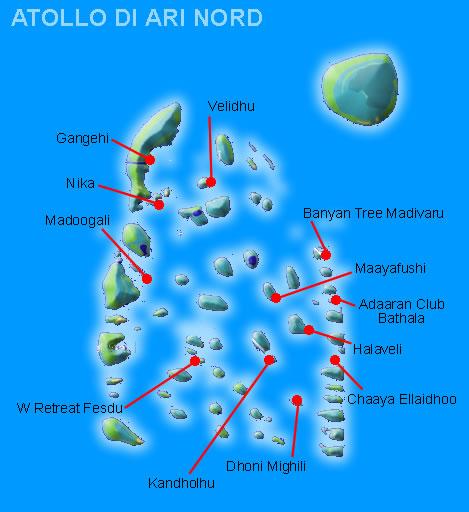 atollo di ari nord - isole maldive