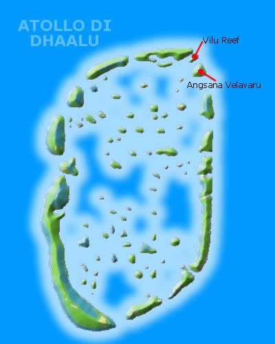 Atollo di dhaalu alle Maldive